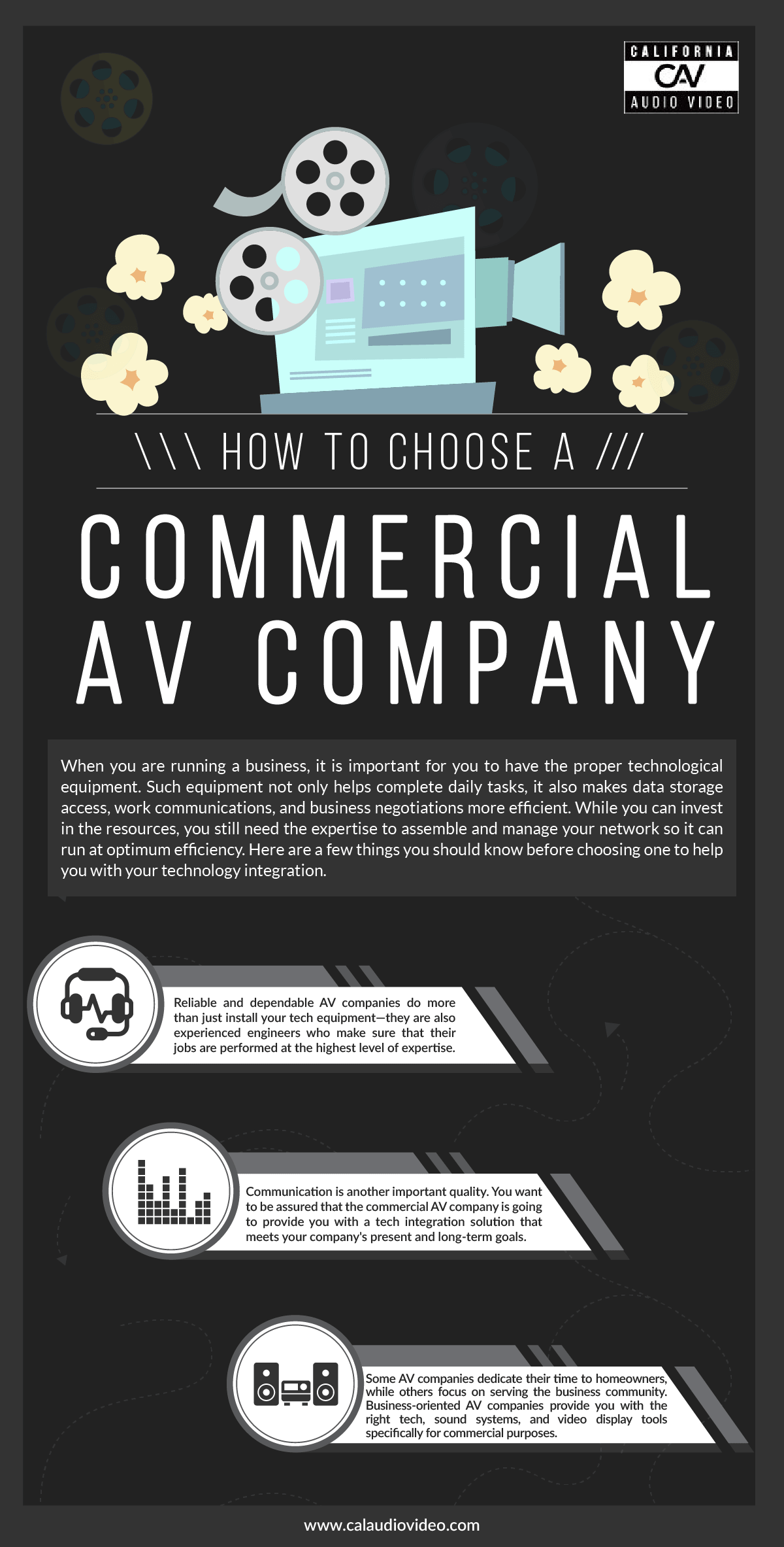 How to Choose a Commercial AV Company Infographic